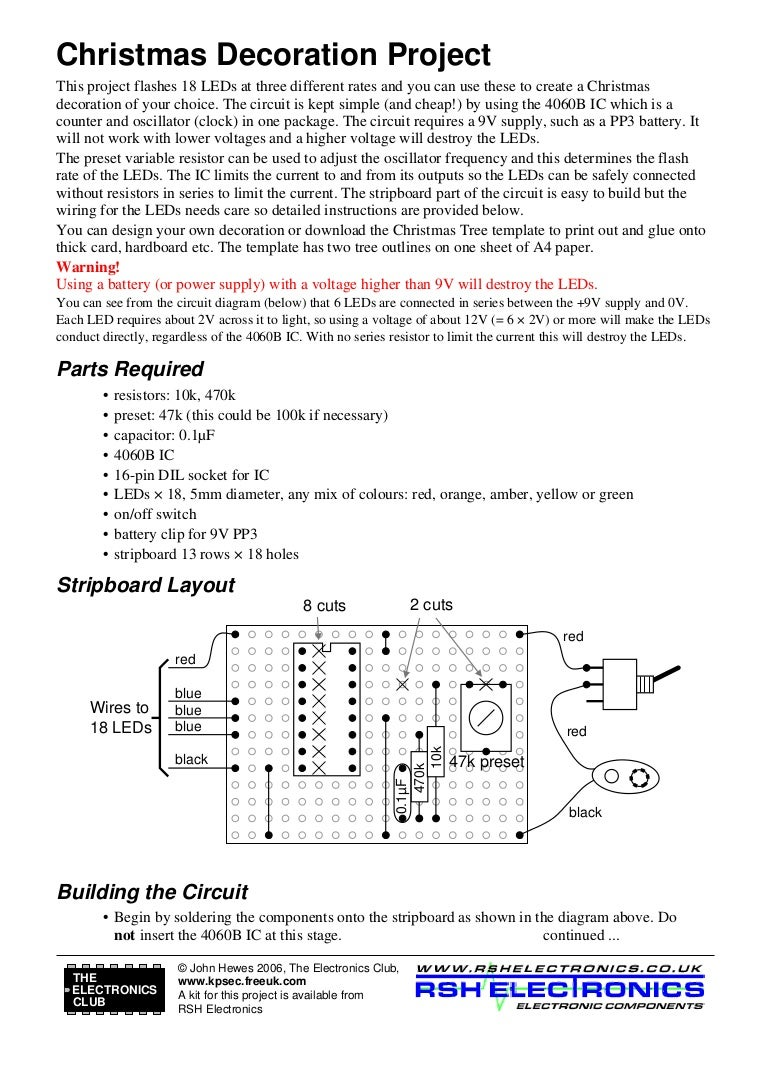 Electronic Circuit For Christmas Tree Wiring Leds In Parallel And Series