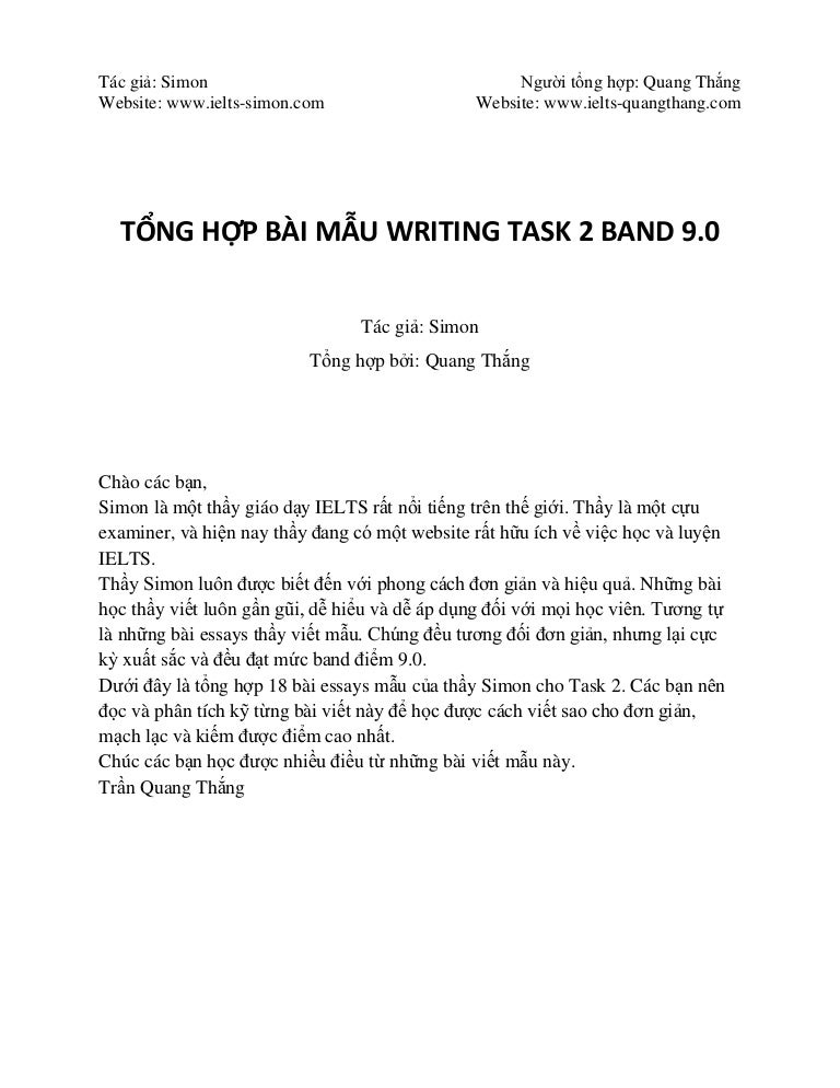 WRITING TASK 2 BAND 9 0 Collection from www ielts-simon com