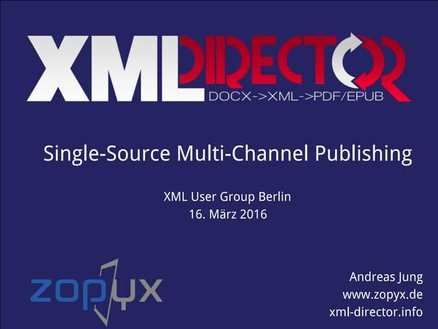 XML Director - the technical foundation of onkopedia.com