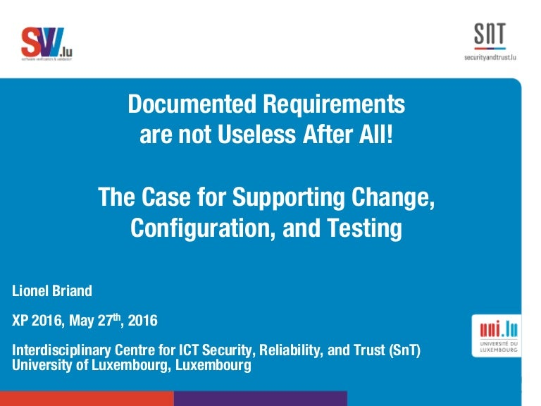 Documented Requirements are not Useless After All!