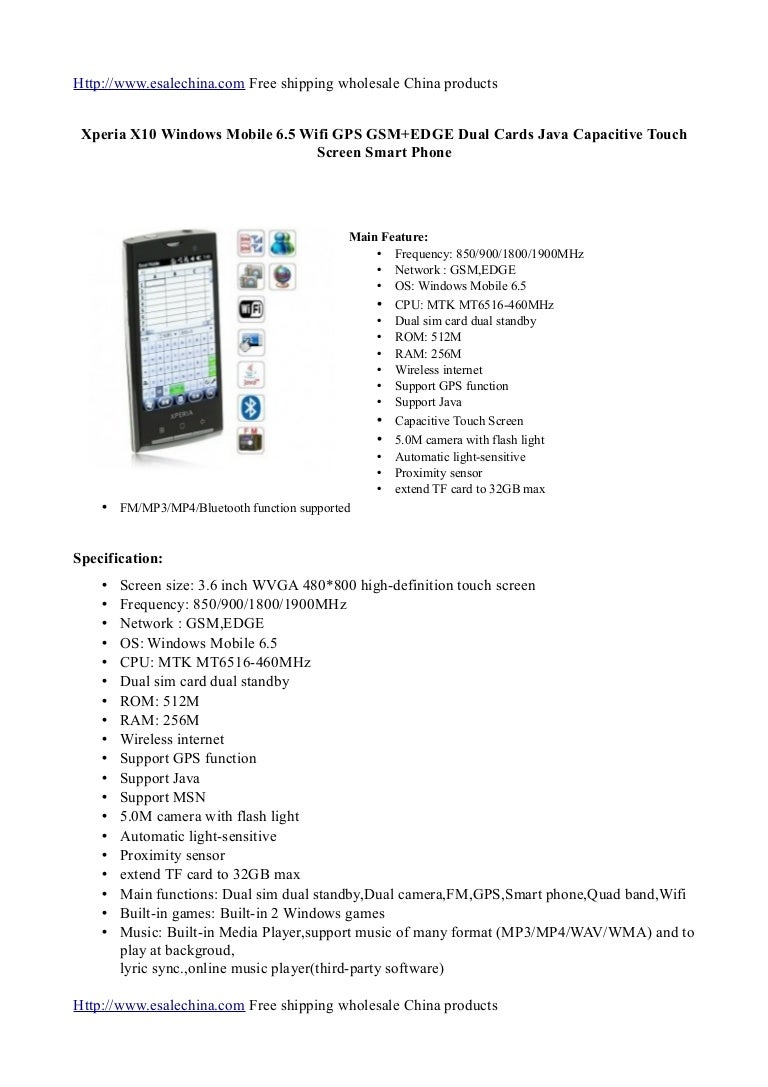 Review Xperia x10 windows mobile 6 5 wifi gps gsm+edge dual