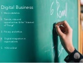 Digital Business Introduction & Learning Thought Starters