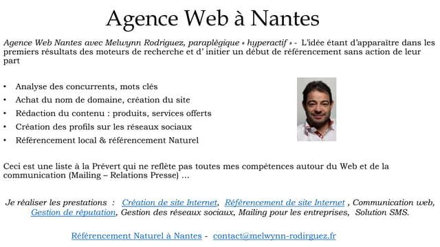 Agence Web Nantes : Référencement de site Internet