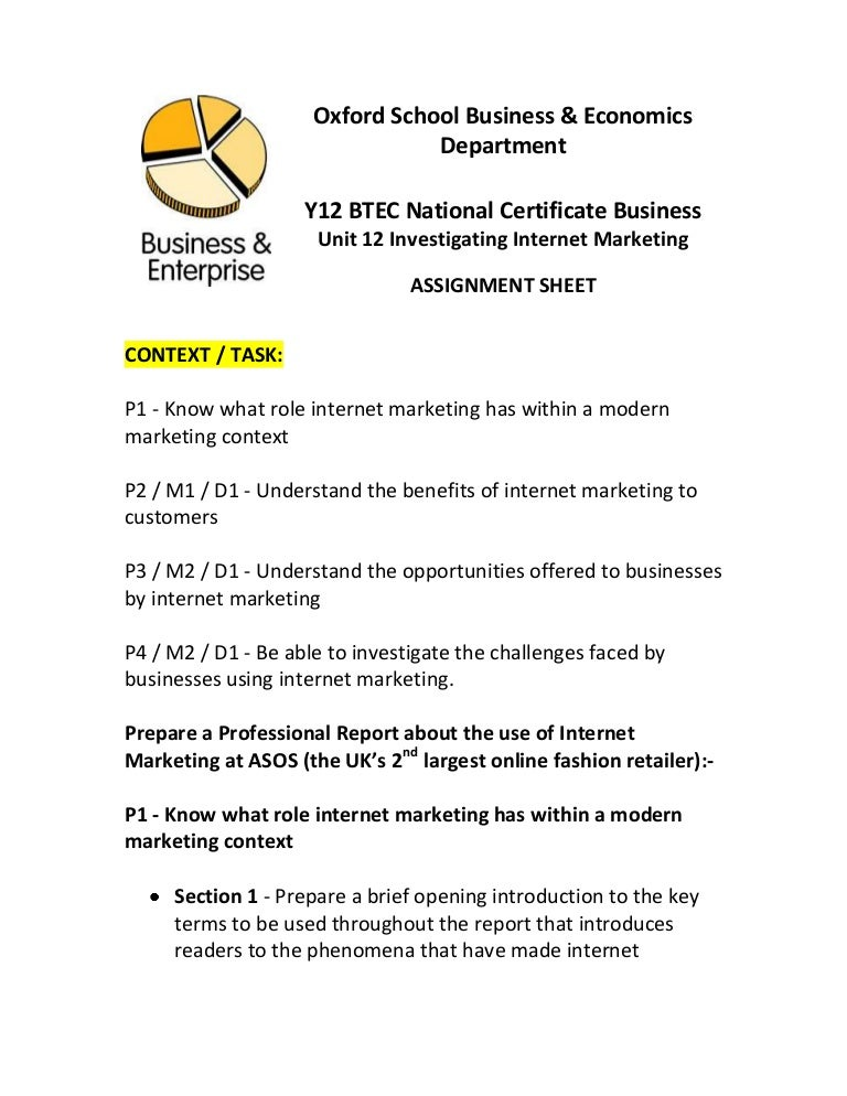 unit 3 introduction to marketing
