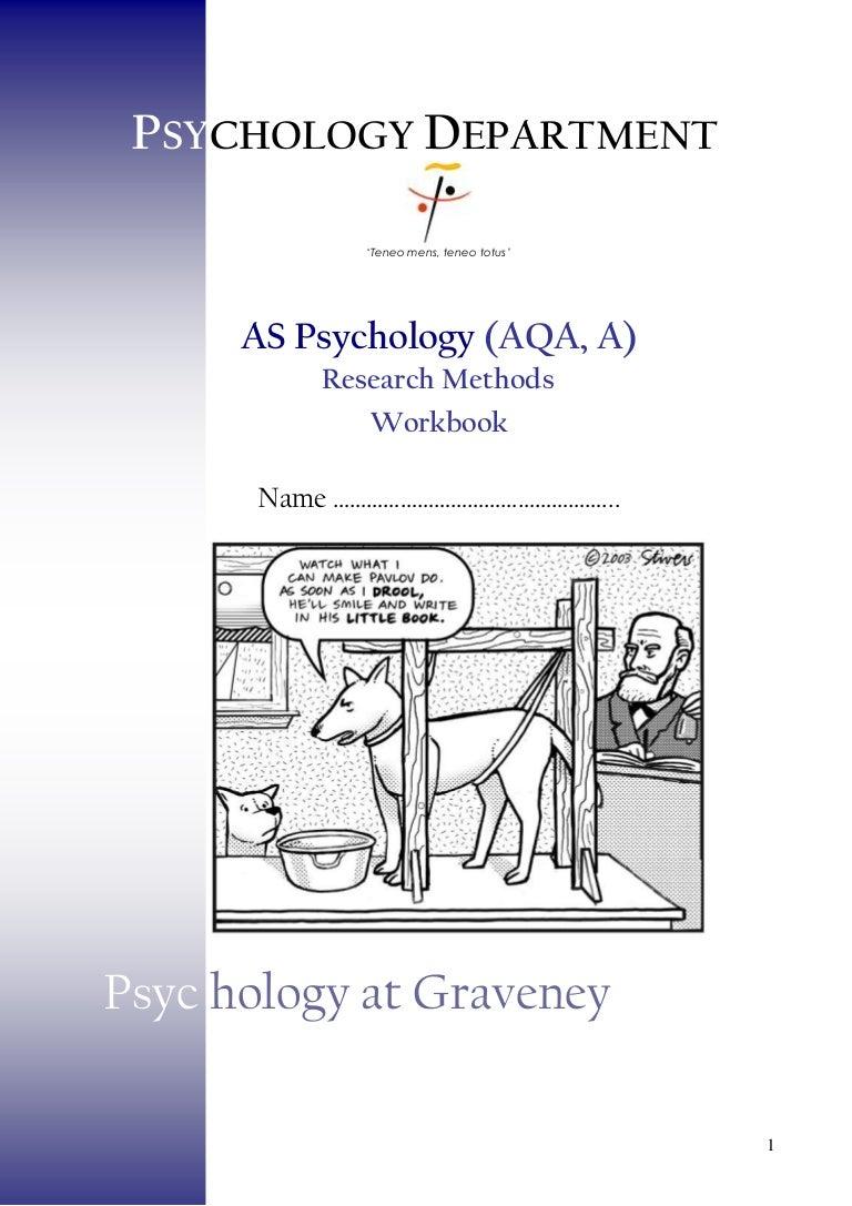 Workbooks psychology workbook : Y12 res meth workbook hanan