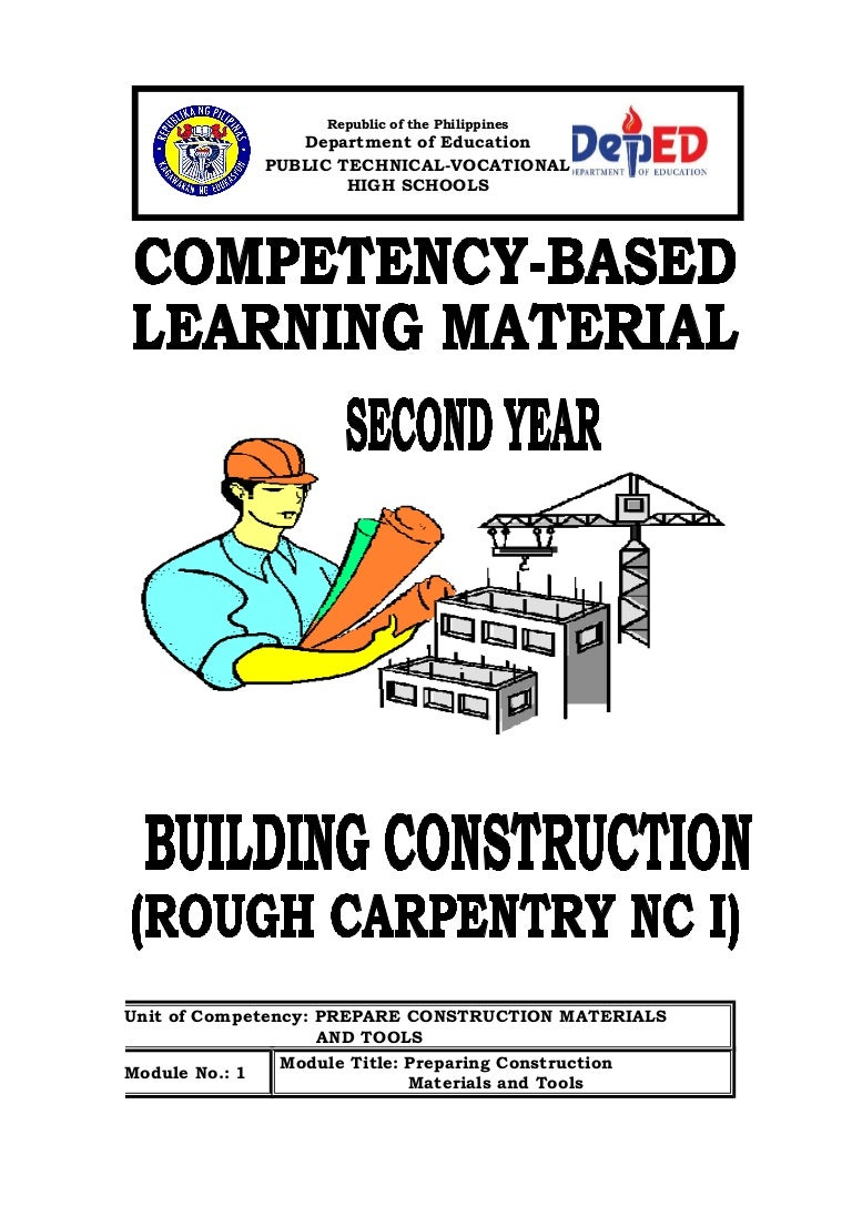 Y2 Module1 Preparing Of Construction Materials Tools Wiring Ppt