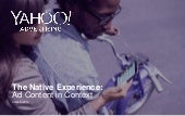 "Yahoo-Studie zu Native Advertising ""Native experience - ad content in context"""