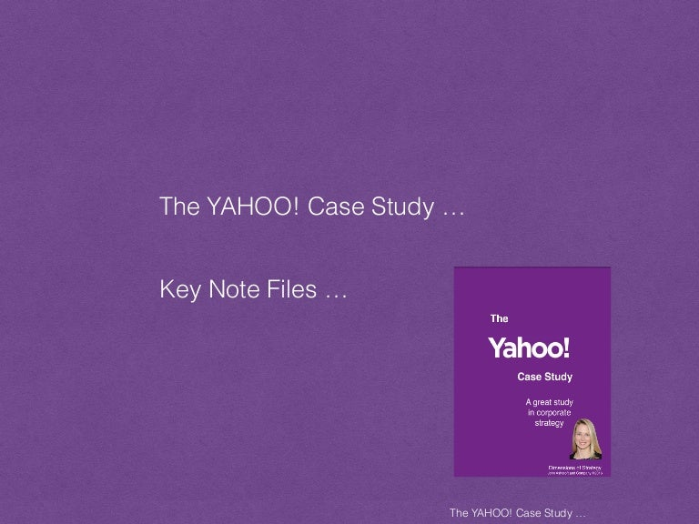 consumer yahoo case study London--(business wire)--spendedge, a global procurement intelligence advisory firm, has announced the release of their new 'supplier profiling study on the consumer goods manufacturing.