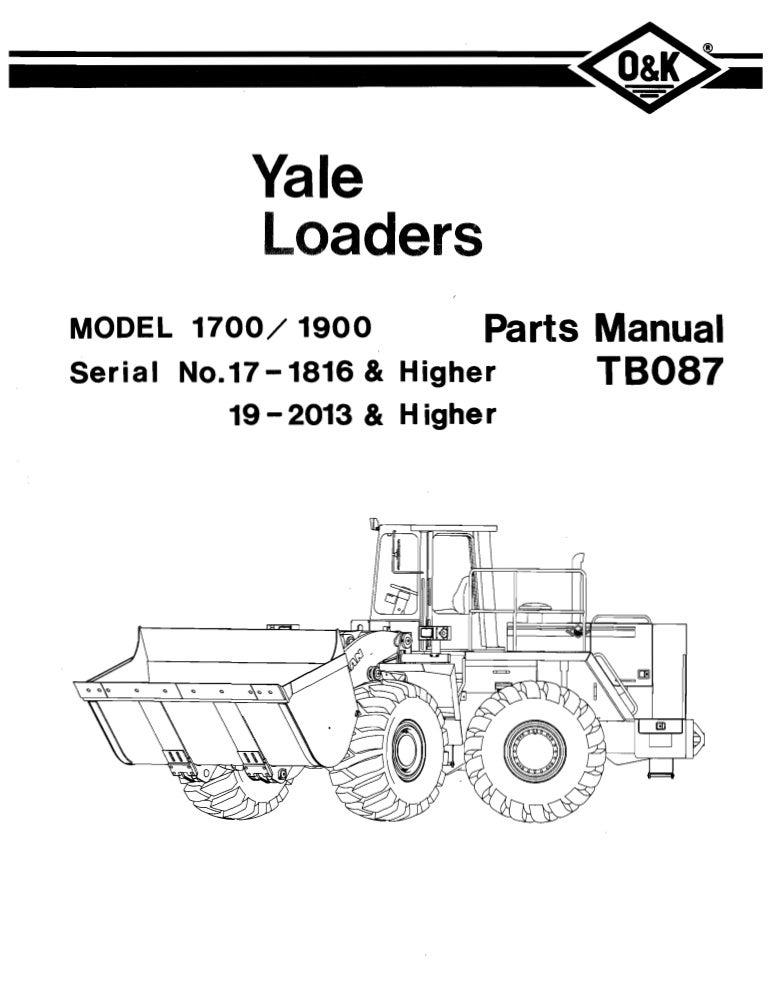 Yale loaders-minn par