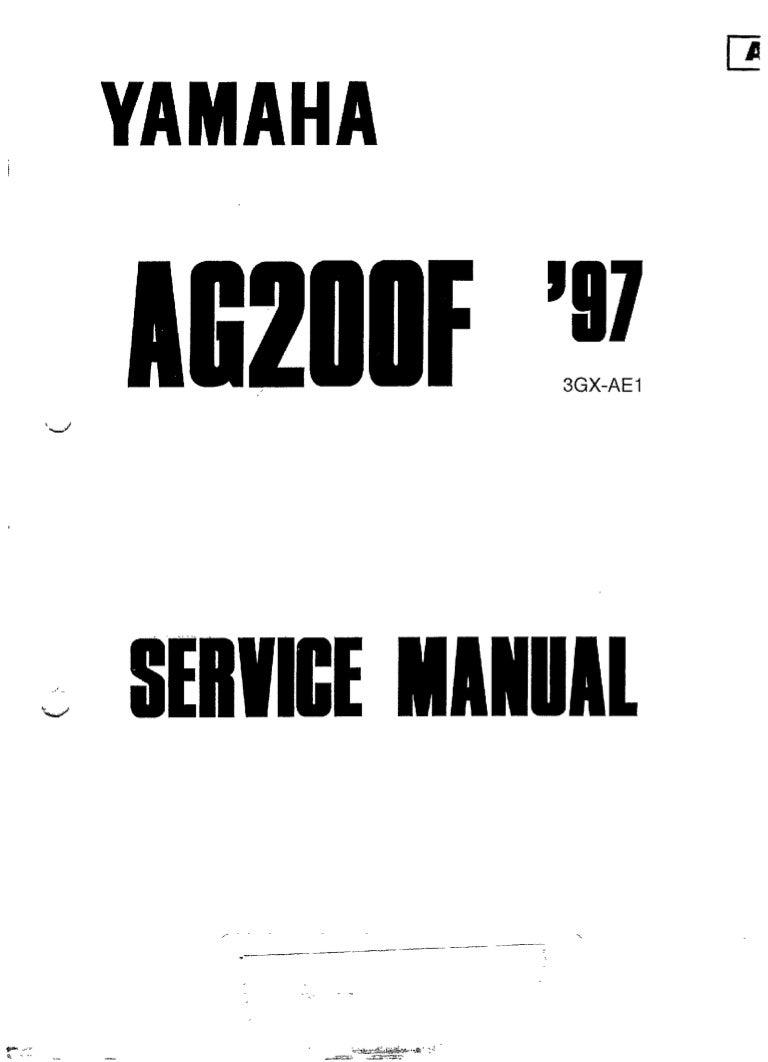 Yamaha ag-200-(1997)-(ed-1997-01)-service manual-r-eng