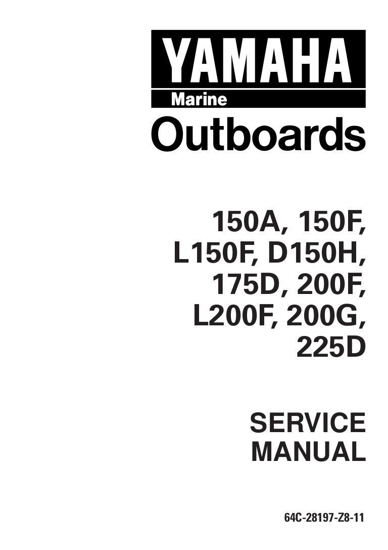 Yamaha 175 deto outboard service repair manual l 350273