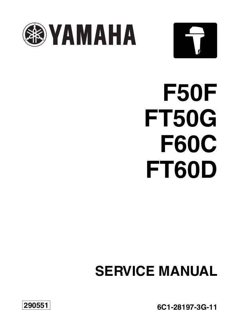Yamaha outboard f60 ceht service repair manual sn1000001 on