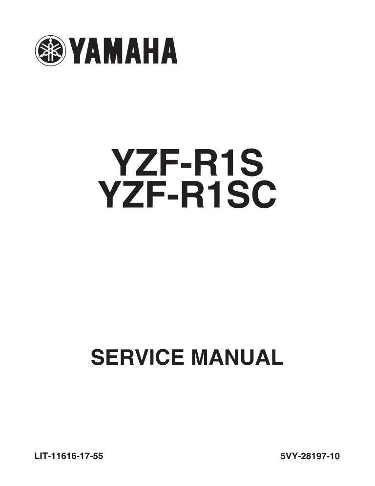 Yamaha r1 service manual 2005 ultimate user guide yamaha yzf r1 2004 service manual lit 11616 17 55 5 vy 28197 10 rh slideshare net 2005 yamaha r1 service manual pdf yamaha r1 motorcycles asfbconference2016 Choice Image