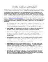 Amendment to Yammer, Inc. Terms of Service (TOS)