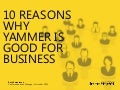 Ten Reasons Why Yammer is Good for Business