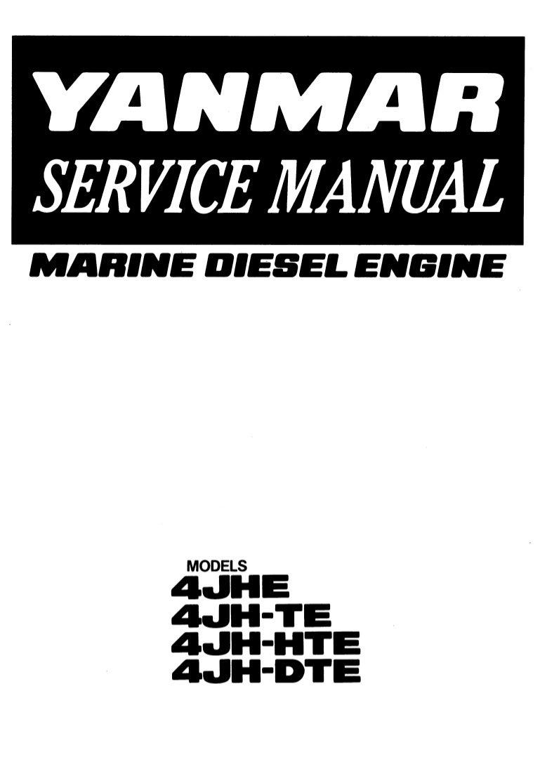 Yanmar 4 jh dte marine diesel engine service repair manual