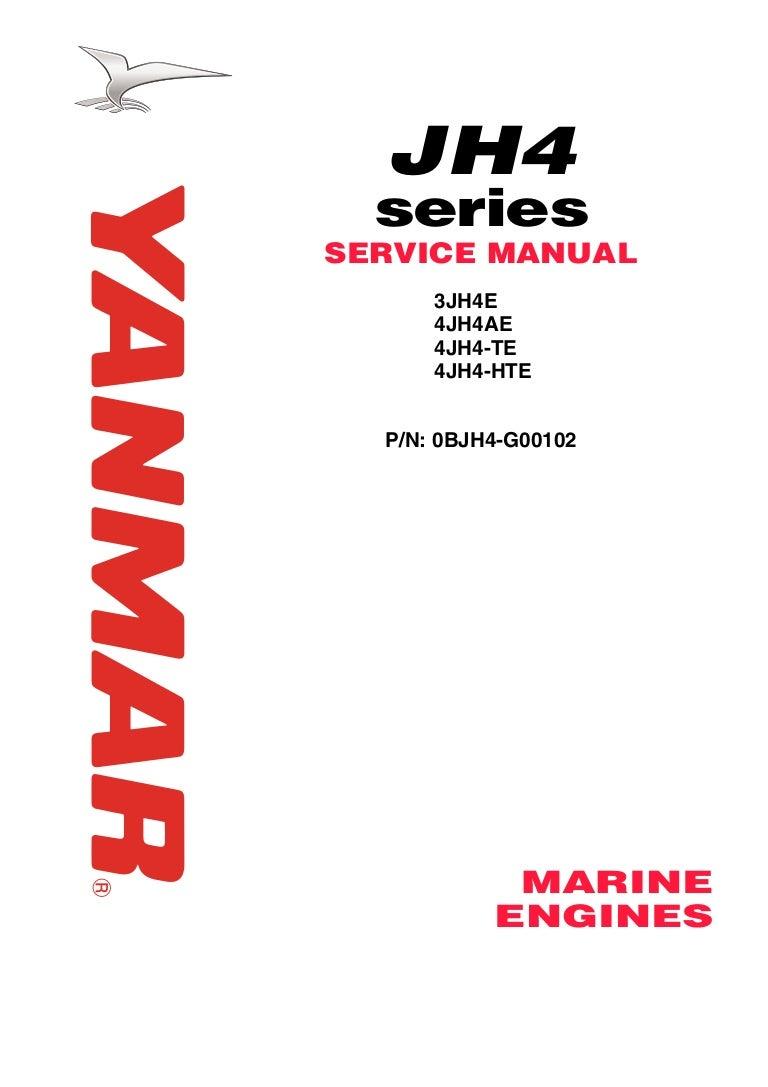 Yanmar 4 Jh4 Te Marine Diesel Engine Service Repair Manual Wiring Diagram