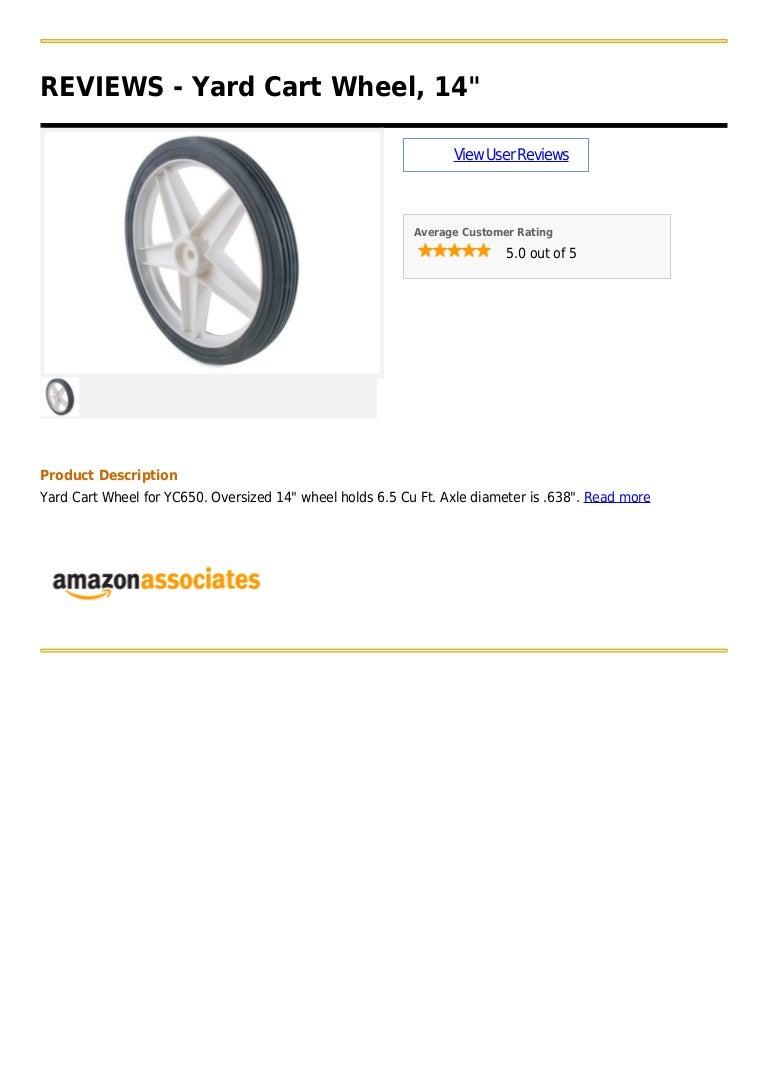 Yard cart wheel, 14