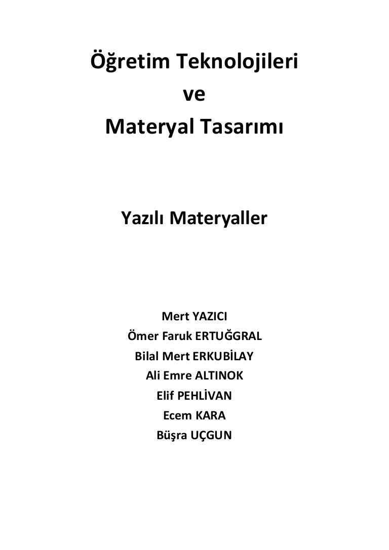 Materyal kaynakları