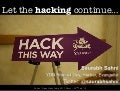 Let the hacking continue - Post Open Hack India Mixer