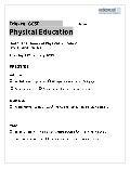 GCSE PE Sample Q's 2009