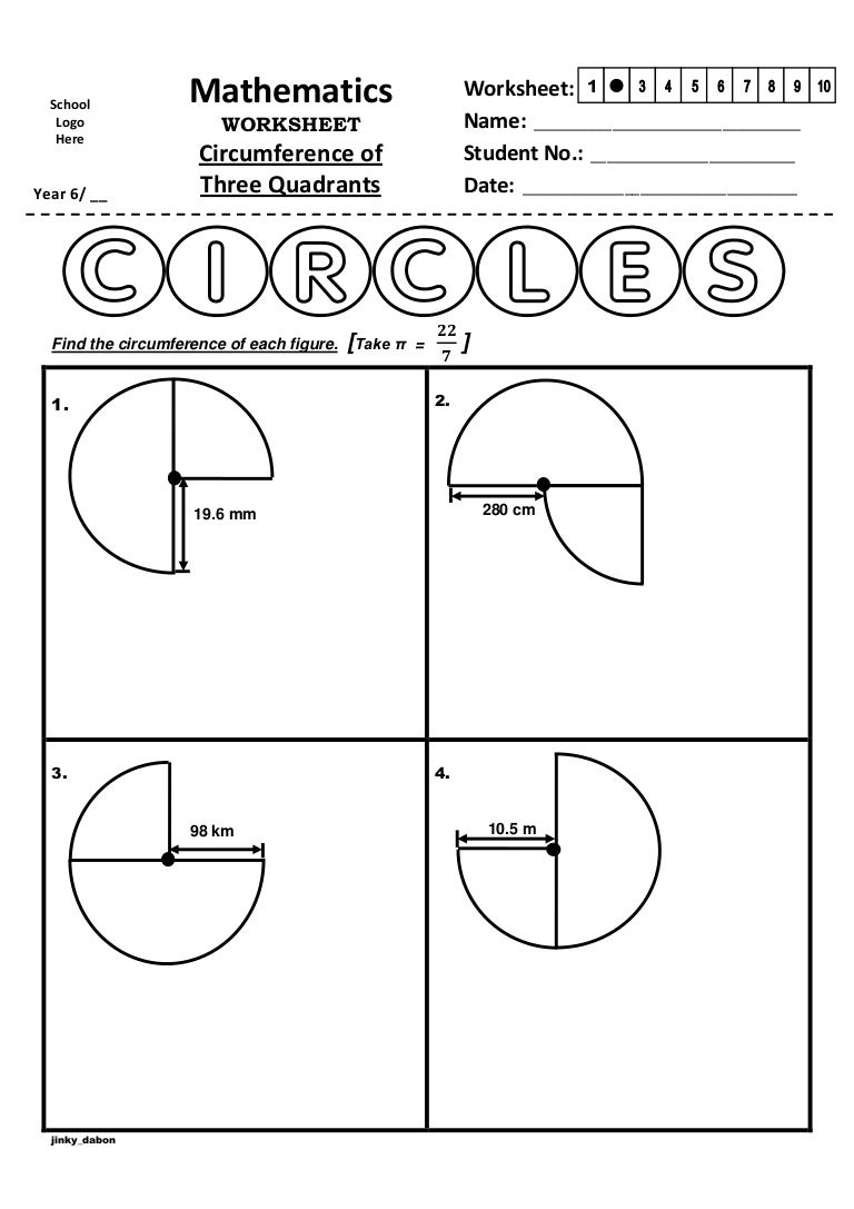 Finding The Area Of A Circle Worksheet fractions and decimals on a – Find the Area of the Shaded Region Worksheet