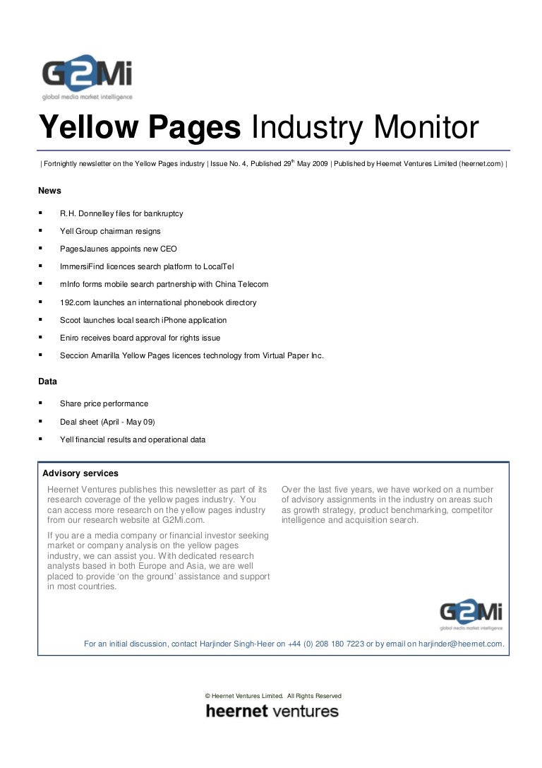 Yellow Pages Monitor (Issue 4)