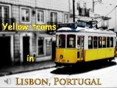 Yellow trams in lisbon, portugal (v.m.)