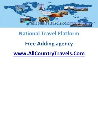 Travel Platforme - Free add travel agency for share more quest