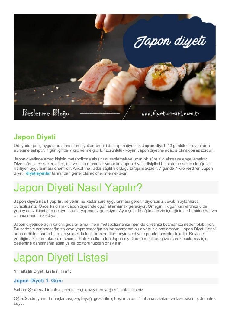 Japon Diyeti Nedir Nasıl Yapılır