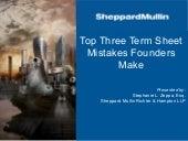 YetiZen Speaks: Top 3 Term Sheet Mistakes Founders Make