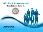 "1ST TECH TALK: ""Yii : The MVC framework"" by Benedicto B. Balilo Jr."