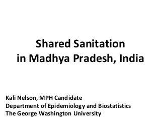Impact of Shared Sanitation Facilities in Madhya Pradesh, India (2012)