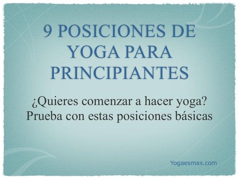 9 Posiciones De Yoga Para Principiantes