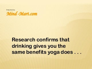 Yoga and Alcohol