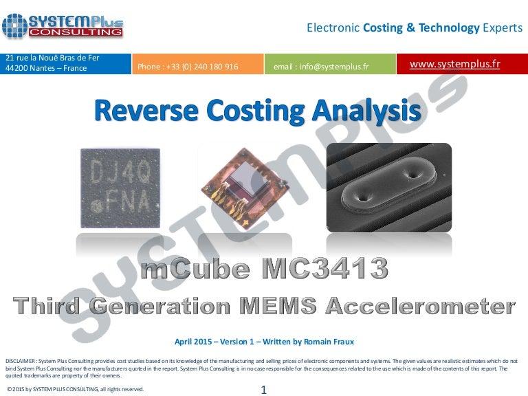 mCube MC3413 3rd Generation 3-Axis Accelerometer 2015