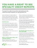 You Have a Right to See Specialty Credit Reports
