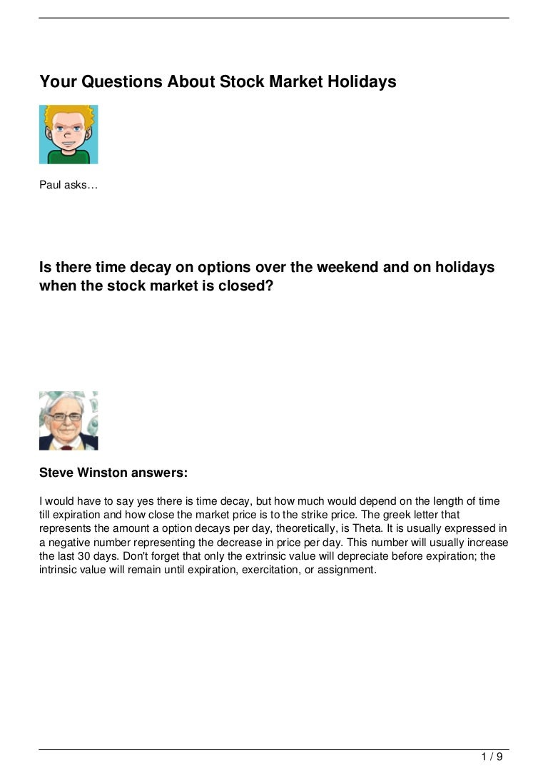 Your Questions About Stock Market Holidays