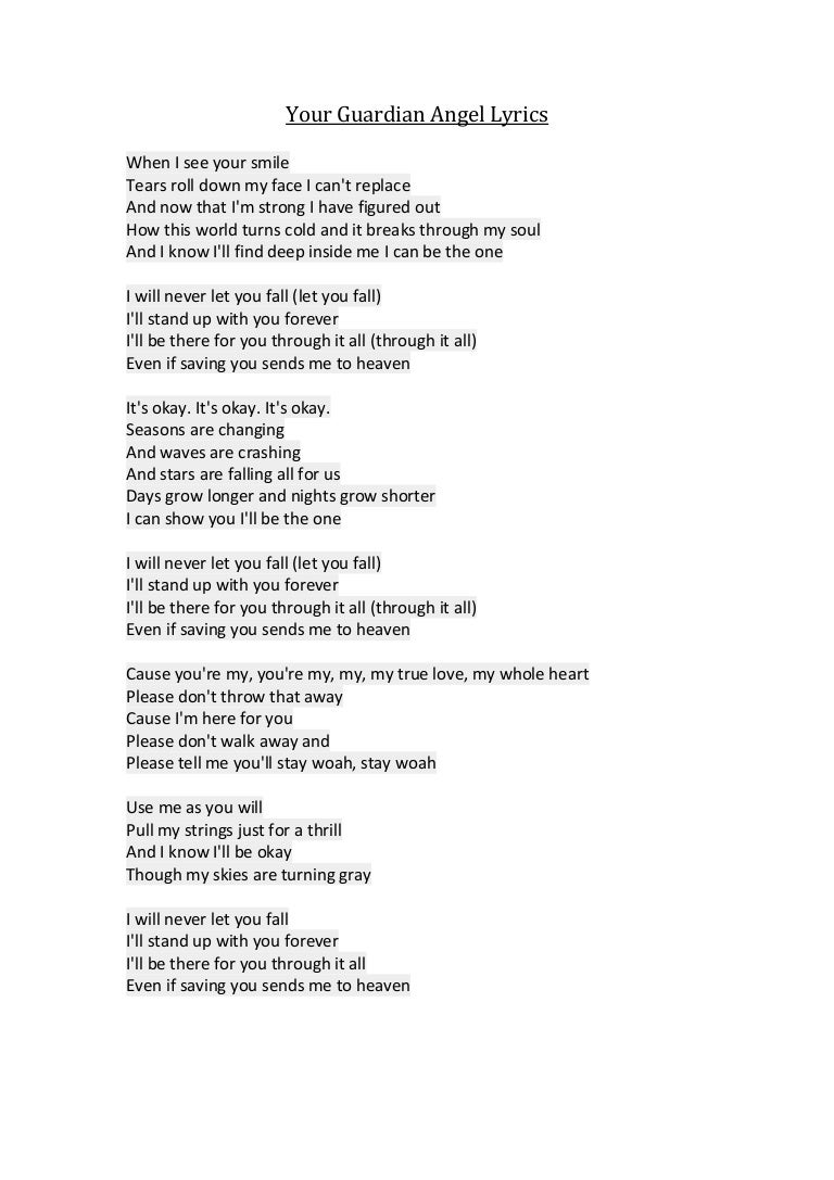 Even angels fall lyrics