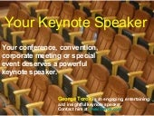 Your keynote speaker