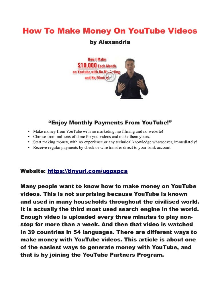 How To Make 10 000 Per Month On Youtube