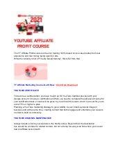 Youtube Affiliate Marketing Course