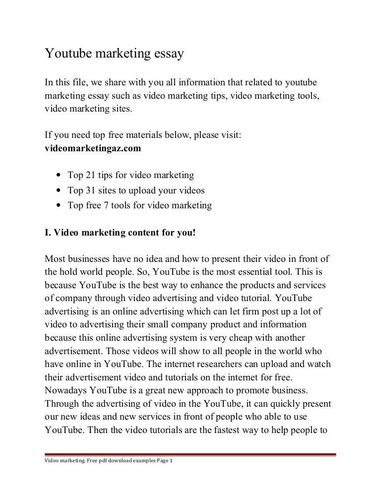 marketing essays