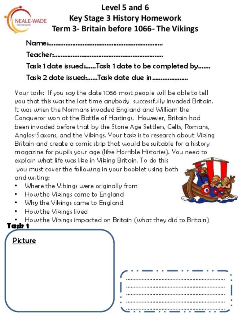 Primary homework help vikings ks2