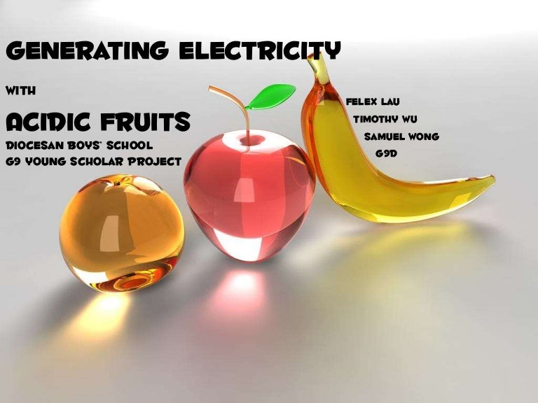which citrus fruit produces the most electricity