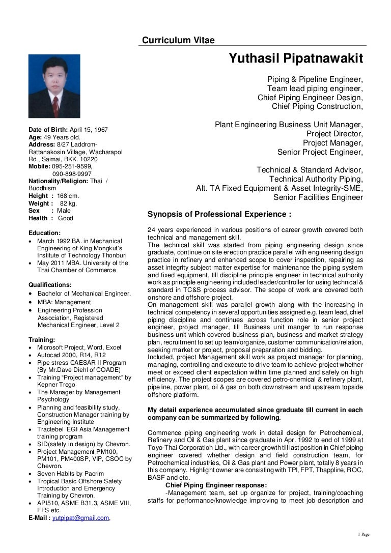 100+ [ Sample Resume Mechanical Engineer Oil And Gas ...