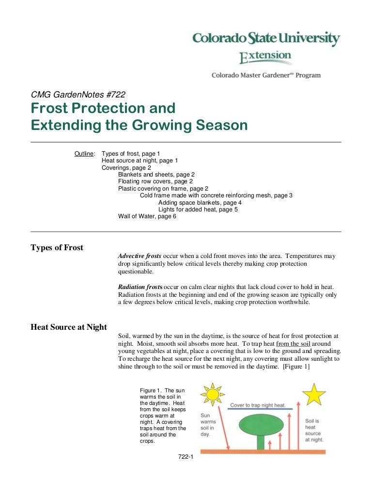 Frost Protection & Extending the Growing Season in Colorado, Gardenin…