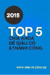 Ebook Top 5 Chìa Khóa Để Thành Công Và Giàu Có