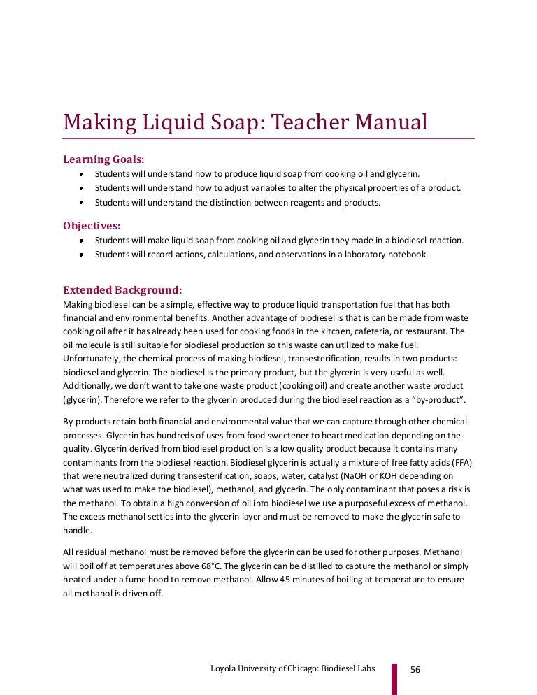Making Liquid Soap - Teacher Manual - A Guide for Making