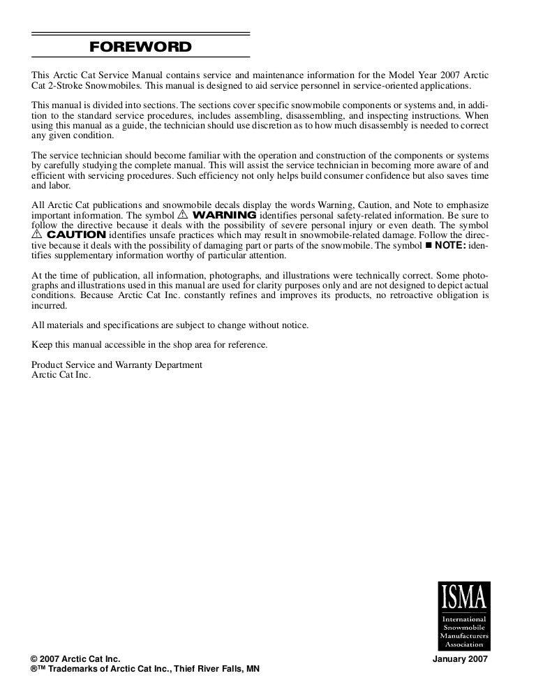 High Definition 2007 Arctic Cat Diesel Repair /& Maintenance Manual PRO